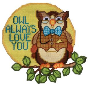 Owl Always Love You Plastic Canvas Kit