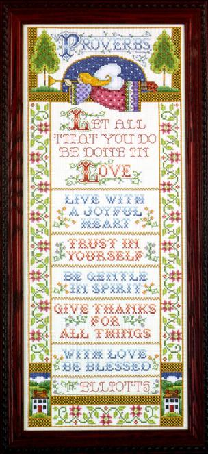 Proverbs 12 x 30 Picture Kit.- Stamped for Embroidery