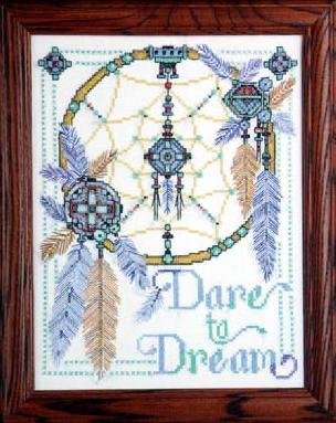 Dare To Dream 14 x 14 inch Stamped Cross Stitch Kit