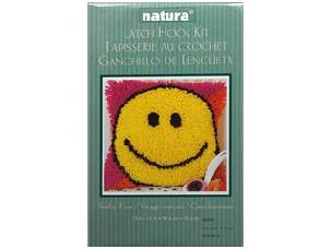 Smiley Face - Caron Latch Hook Kit Natura 12x 12 inch