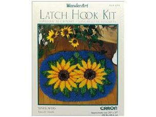 Sunflowers - Latch Hook Kit WonderArt - 20x 27 inch