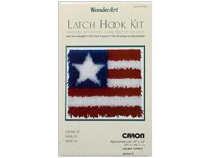 Patriot - Caron Latch Hook Kit WonderArt 12 x 12 inch