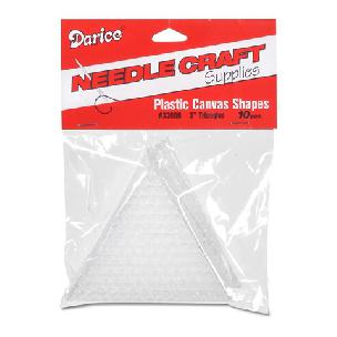 Plastic Canvas Shape - Triangle - 2-1/2 x 3 inches - 10 pieces