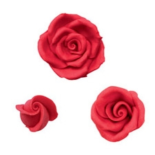 Red Roses - Medium - Pre-made Royal Icing