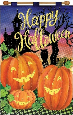Happy Halloween Jeweled Banner Kit