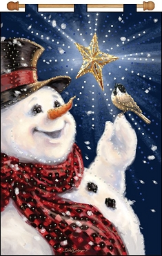 Snowman & Bird Jeweled Banner Kit