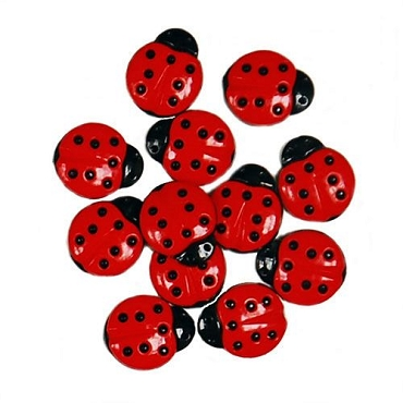 Ladybugs - 11 buttons per package
