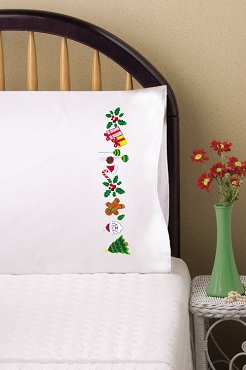 Signs of Christmas - Pair of Standard Pillowcases by Tobin