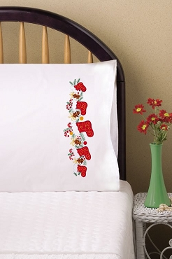 Christmas Stockings - Pair of Standard Pillowcases by Tobin