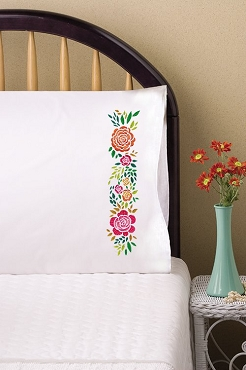 Rosey Posey - Pair of Standard Pillowcases by Tobin