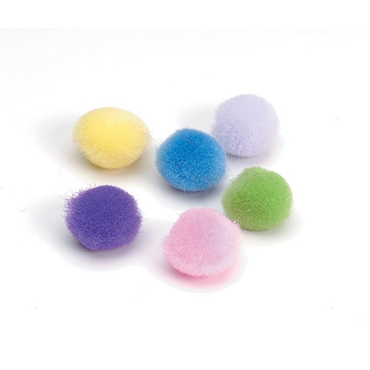 Assorted Spring color Pom Poms - .39 inch - 10mm - 100 pieces